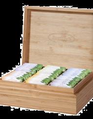 Bamboehouten theekist voor biologische fairtrade thee